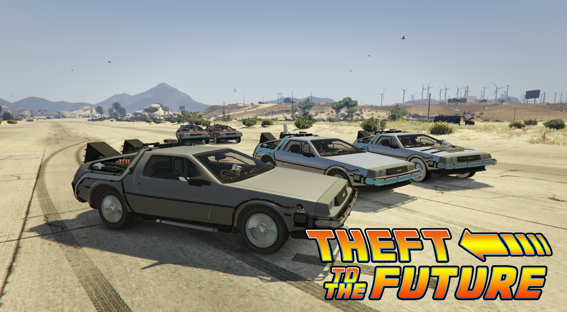 Back To The Future Delorean Time Machine 3 Car Pack Gta5 Mods Com