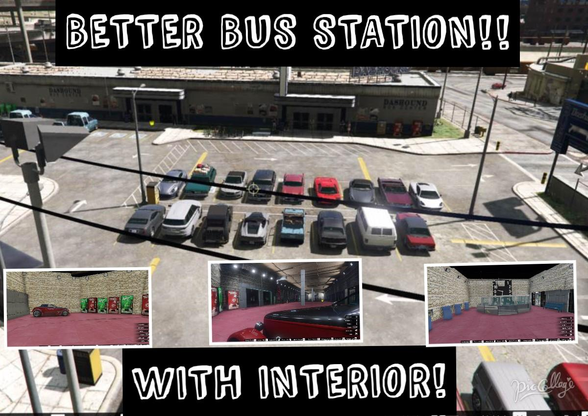better bus station with interior map editor gta5. Black Bedroom Furniture Sets. Home Design Ideas