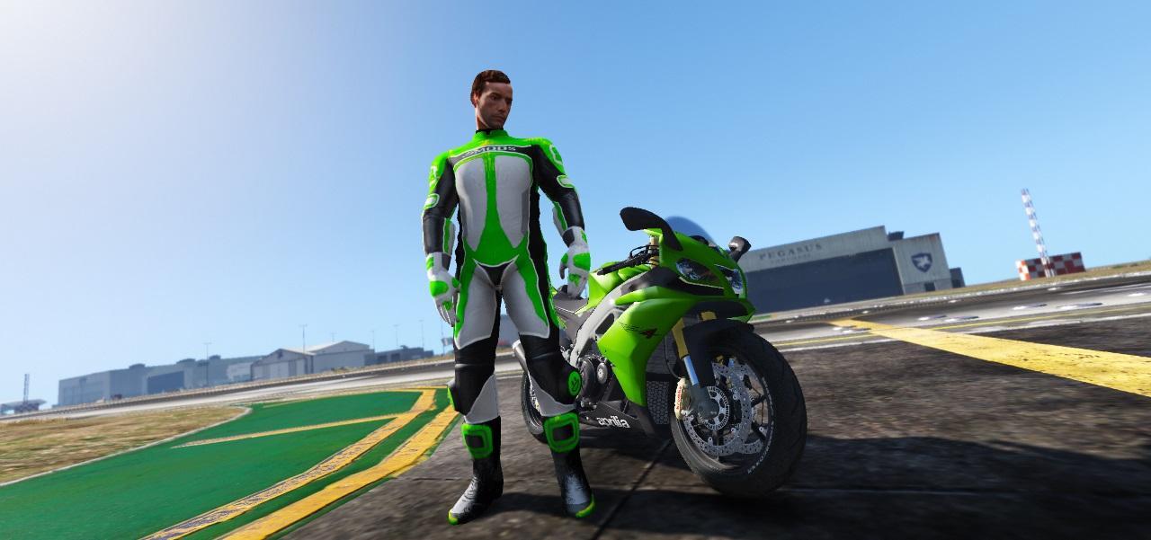 Bikers Racing Suit 5mods u0026 Normal textures version [Add-On Ped] - GTA5-Mods.com