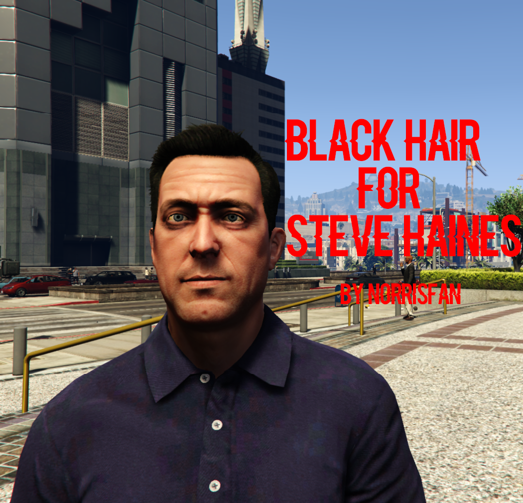 3bdbf5cd68c5 Black hair for Steve Haines - GTA5-Mods.com