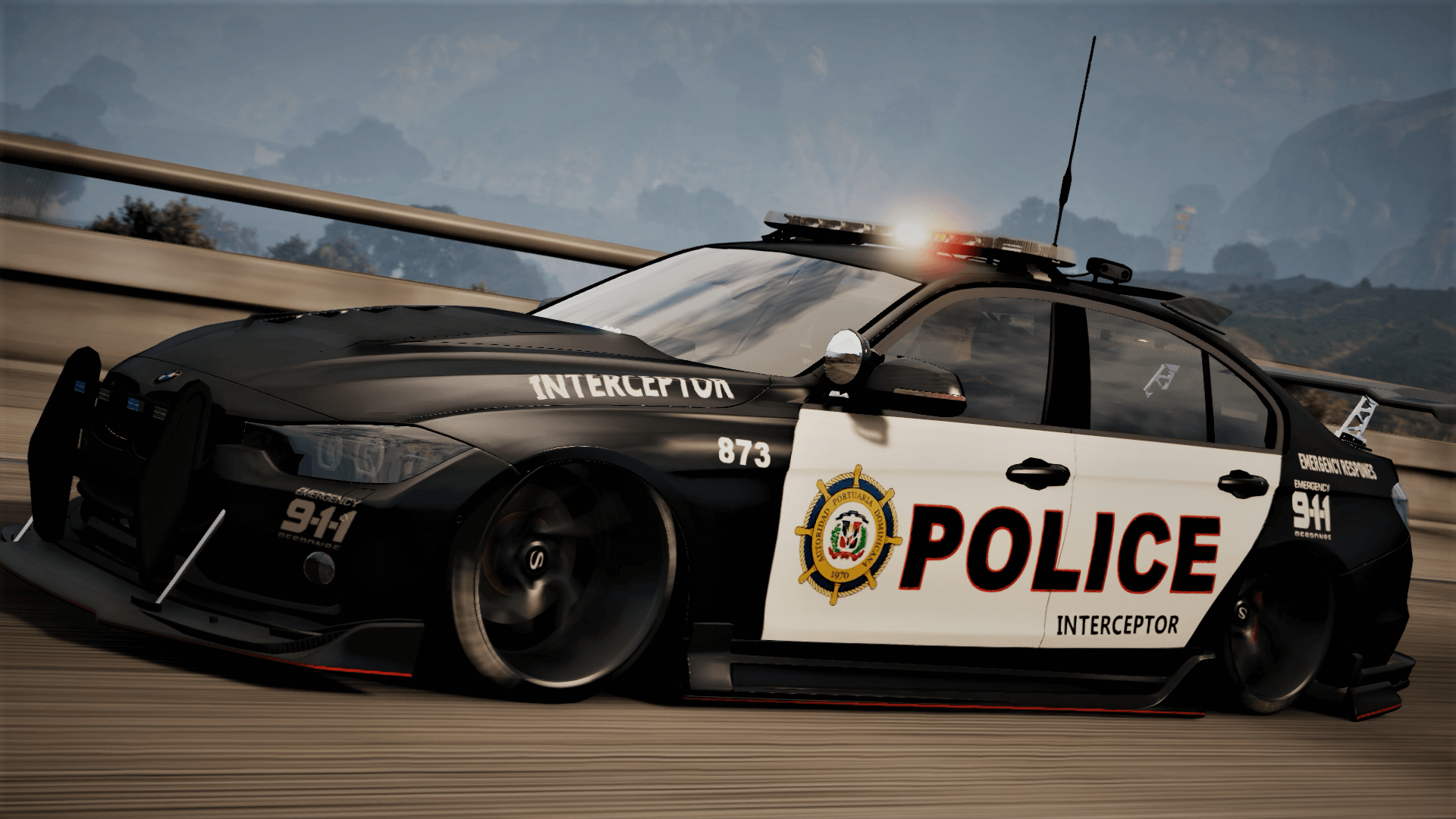 Bmw 3 F30 Police Crazy Exterior Add On Els Template Gta5