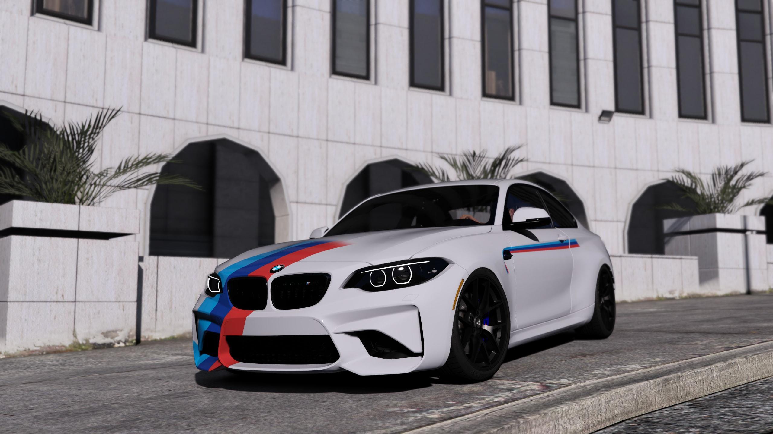 Mercedes Gtr Amg >> BMW M2 M-Stripe Livery (4k) (2 Skins) - GTA5-Mods.com