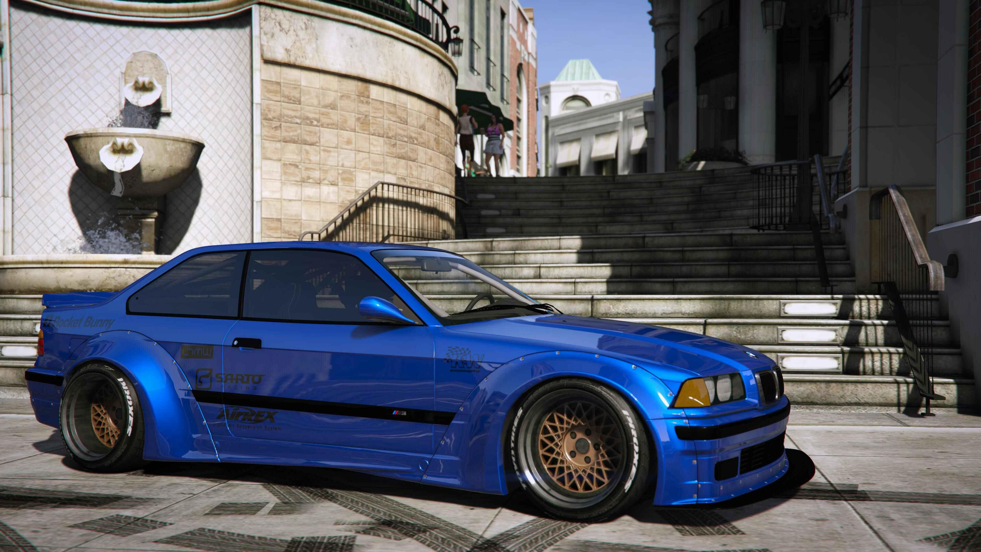bmw m3 e36 rocket bunny sarto racing add on gta5. Black Bedroom Furniture Sets. Home Design Ideas