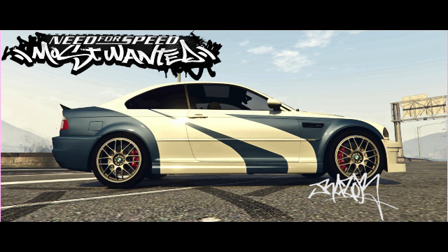 Bmw M3 Razor Need For Speed Most Wanted Paintjob Gta5 Mods Com