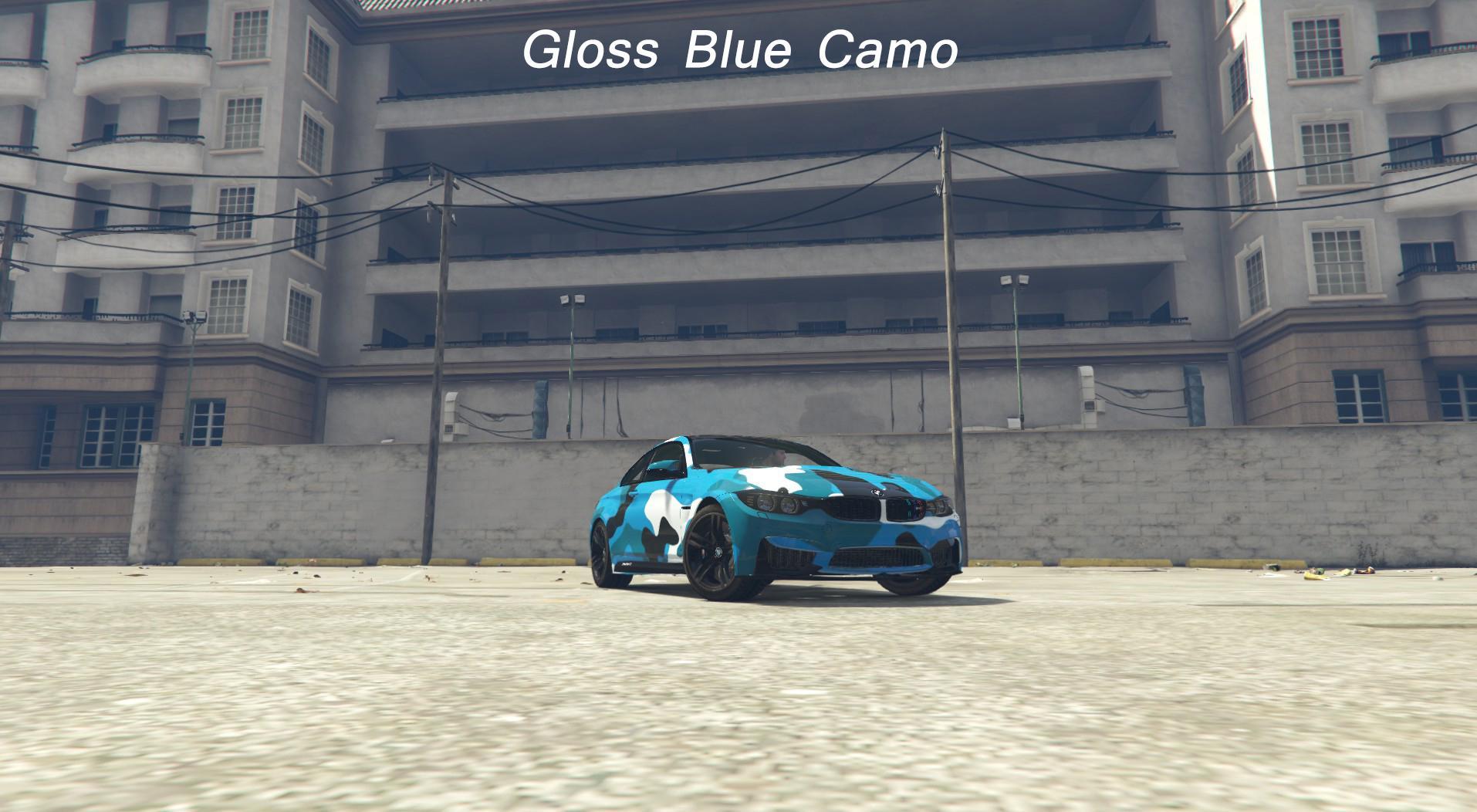 Bmw M4 Blue Camo Army Camo Livery Gta5 Mods Com