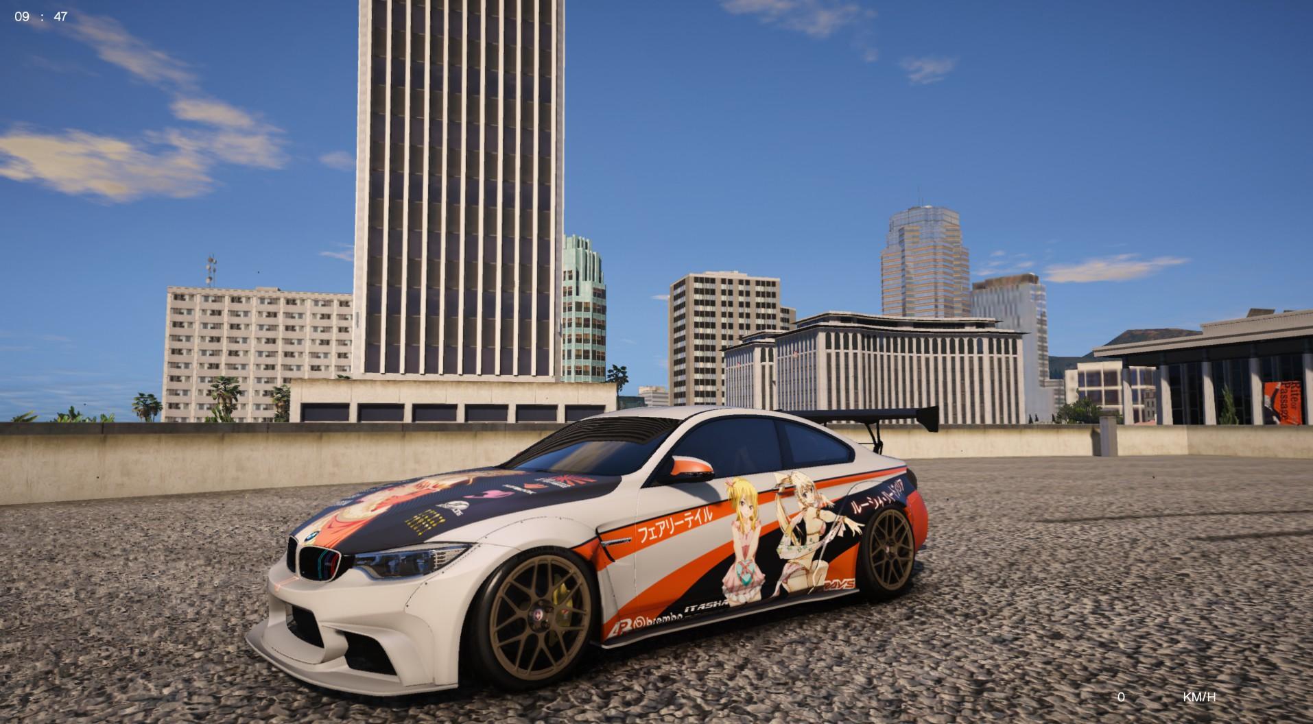Toyota Ia Mods >> BMW M4 F82 LW Itasha Lucy Heartfilia - GTA5-Mods.com