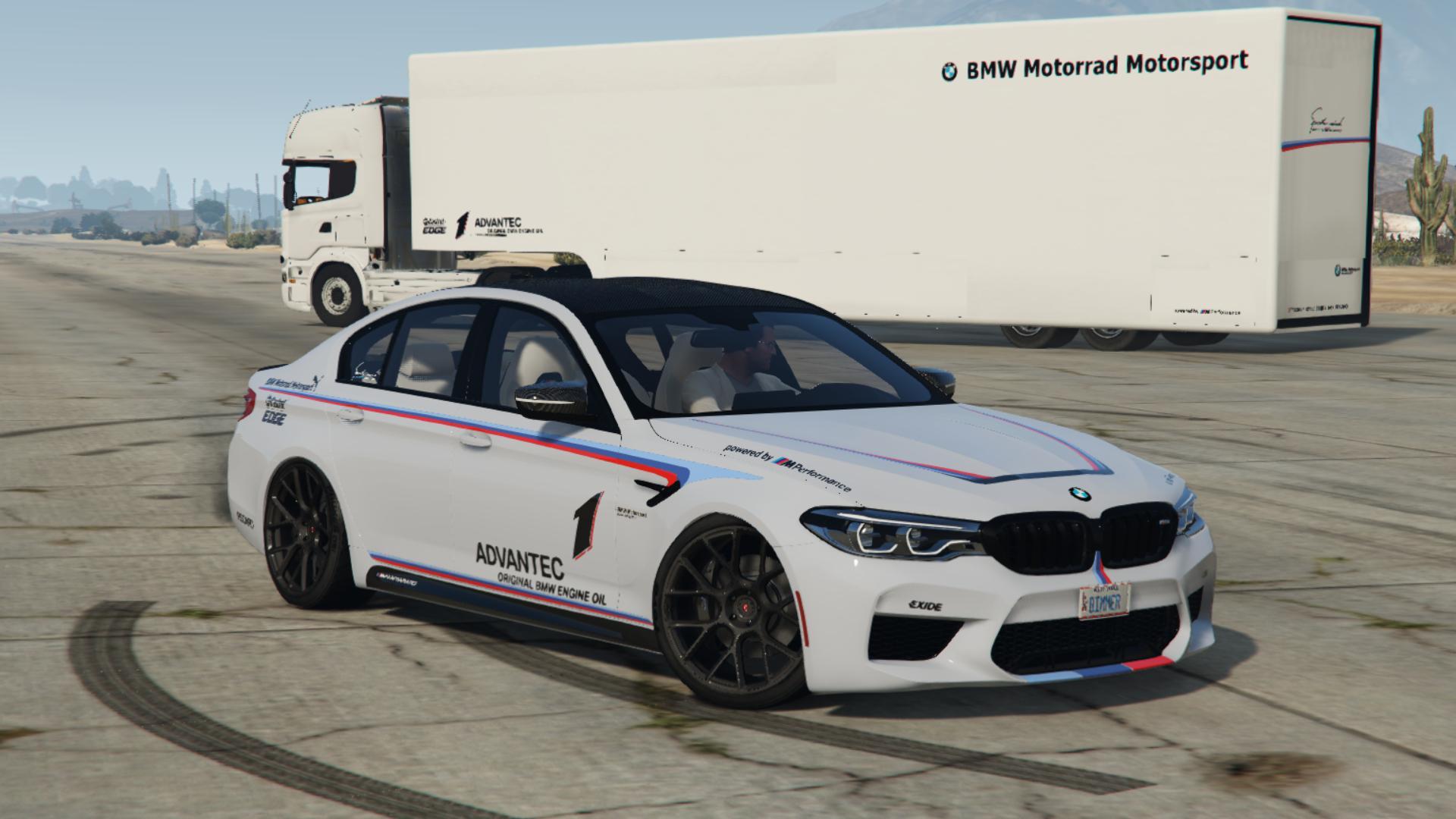 BMW M5 F90 M-Performance 2018 Body and Windows Texture ...