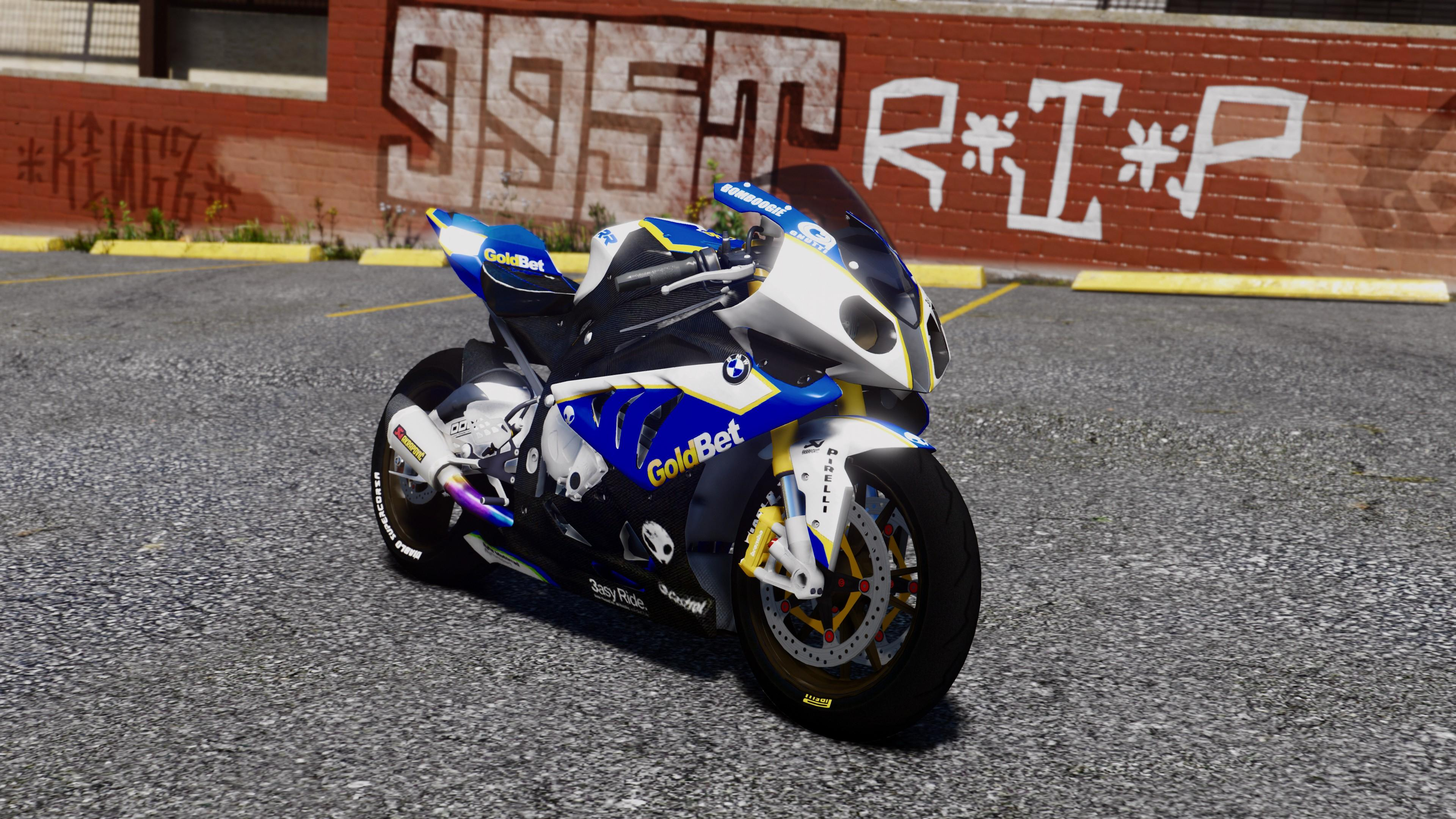 Bmw S1000rr Goldbet Racer Rollcage Gta5 Mods Com