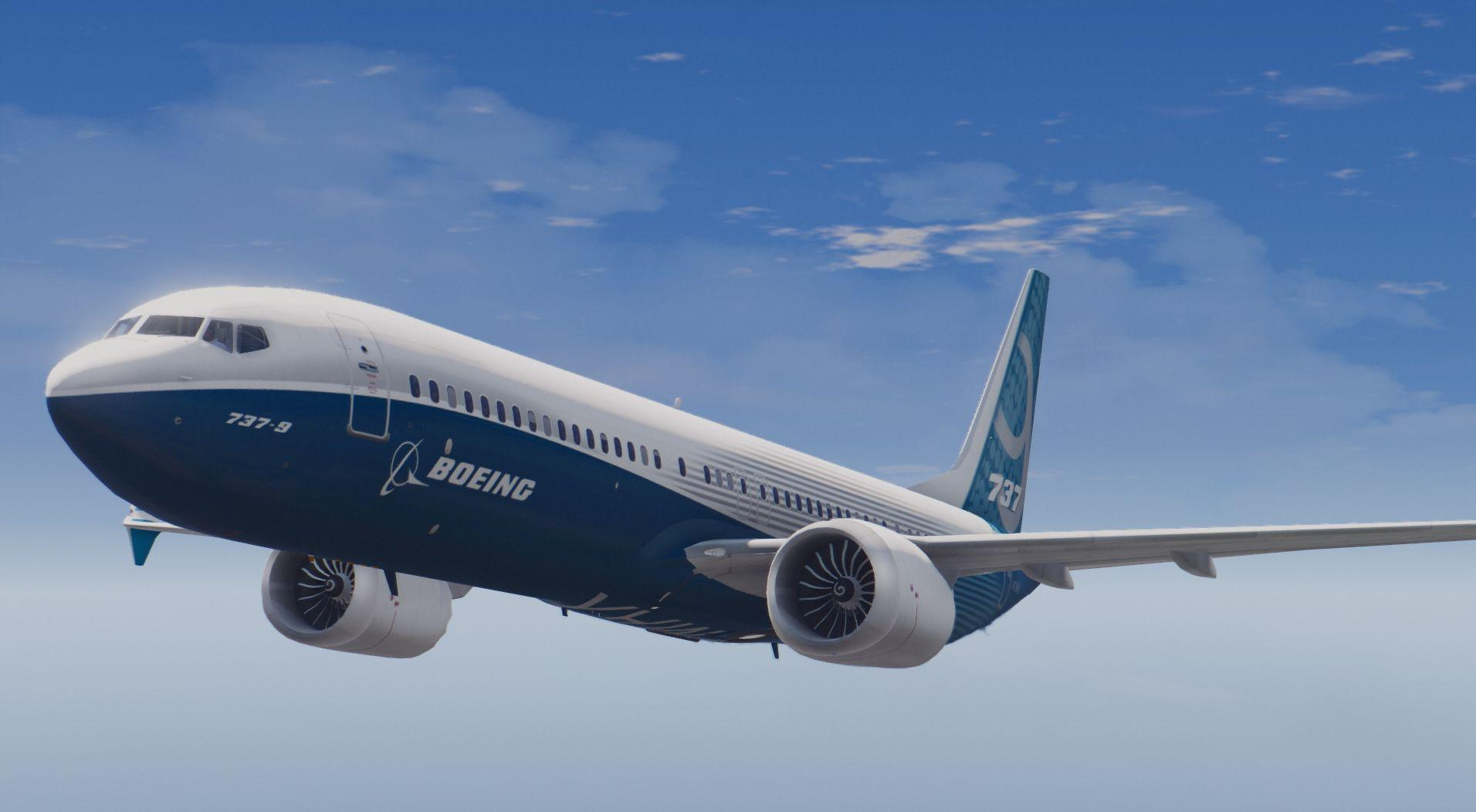 Boeing 737 Max9 Add On Replace Gta5 Mods Com