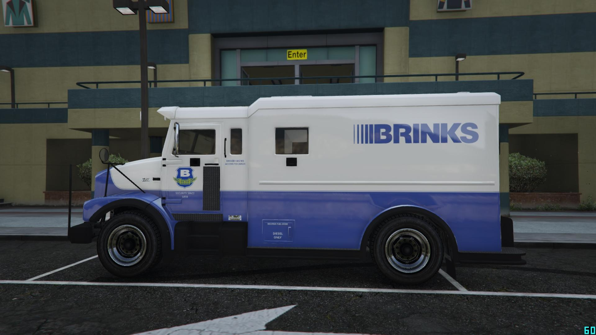 Brinks Armored truck, ...