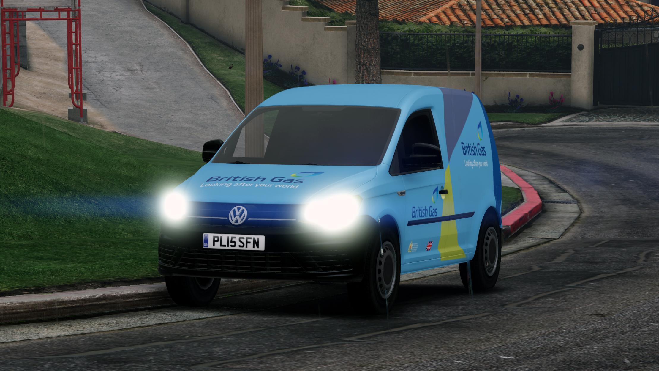 british gas volkswagen caddy skin no emergency lights gta5. Black Bedroom Furniture Sets. Home Design Ideas