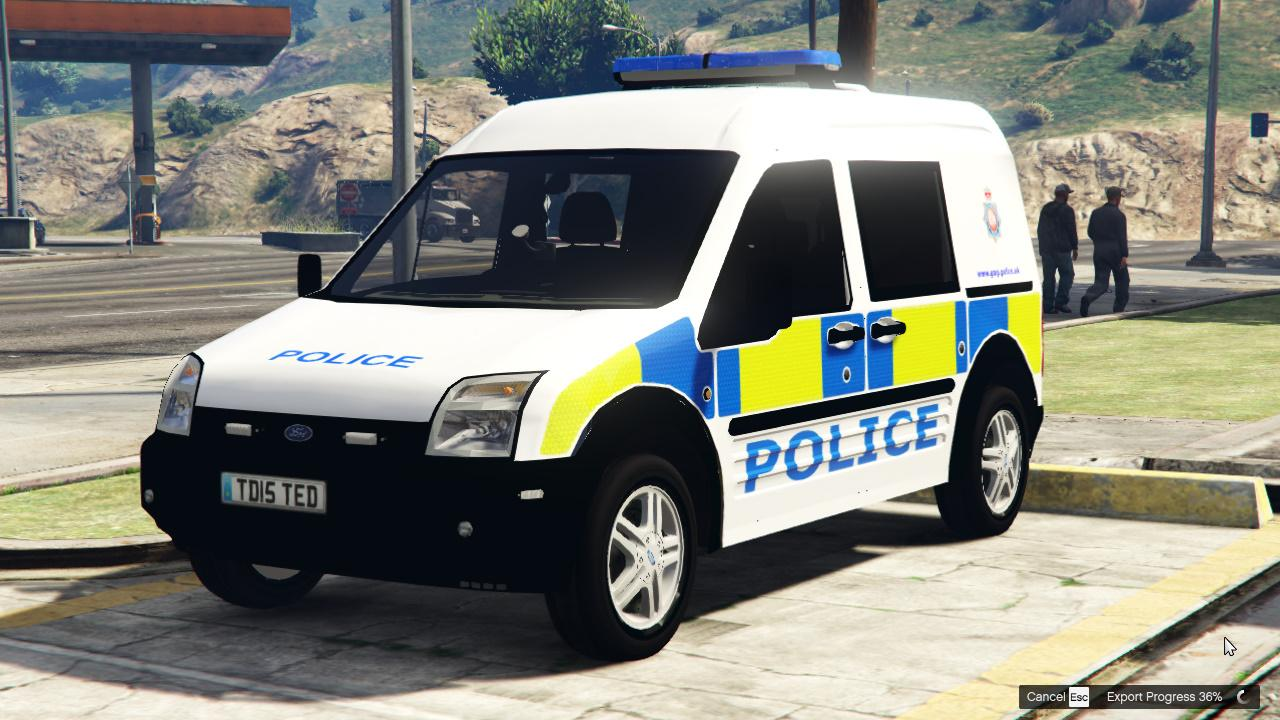 Transit Connect Modified >> british Police Ford Connect 5 Door Van ELS GMP - GTA5-Mods.com