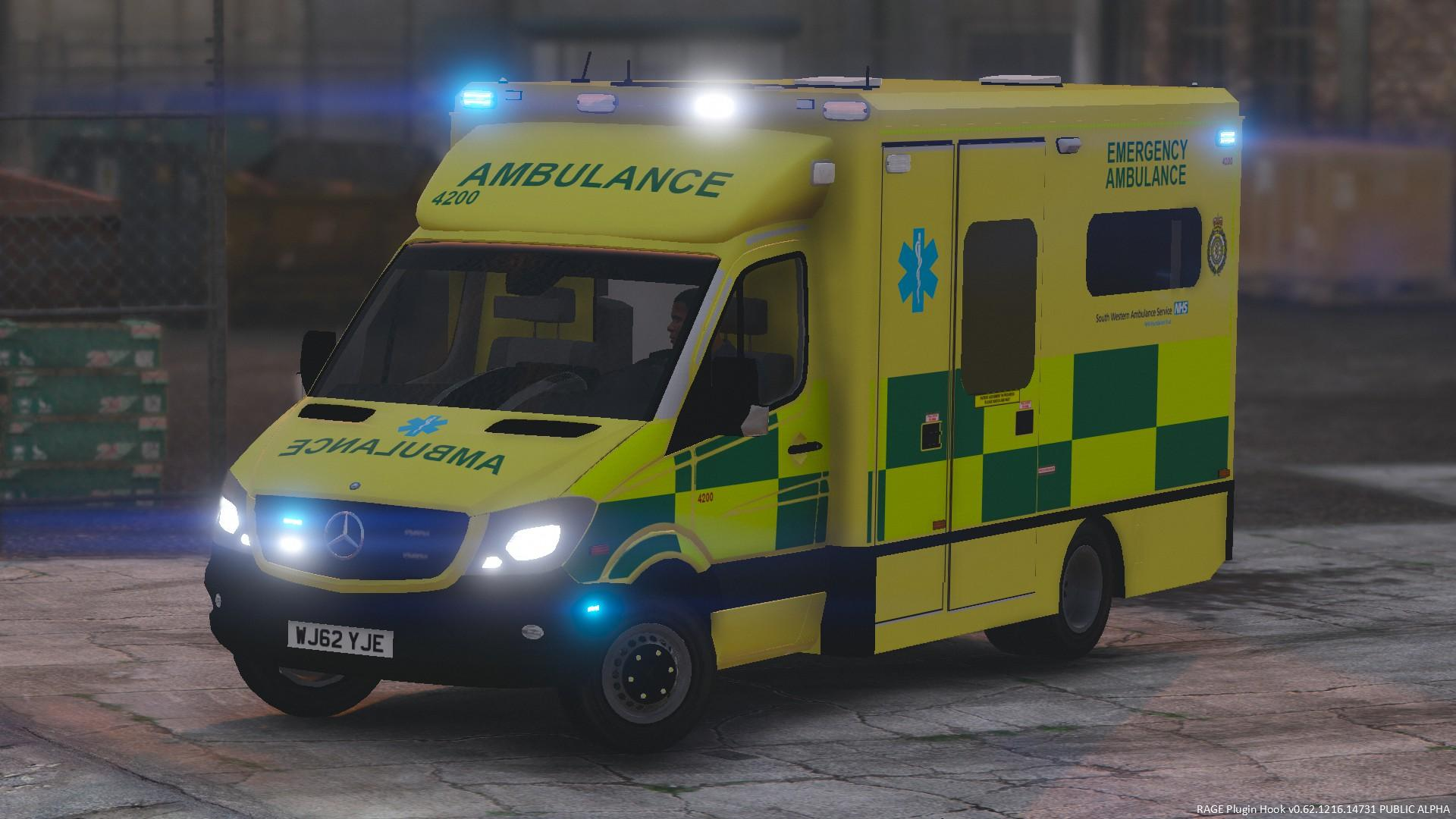 British South Western Ambulance Service Mercedes Sprinter - GTA5-Mods.com