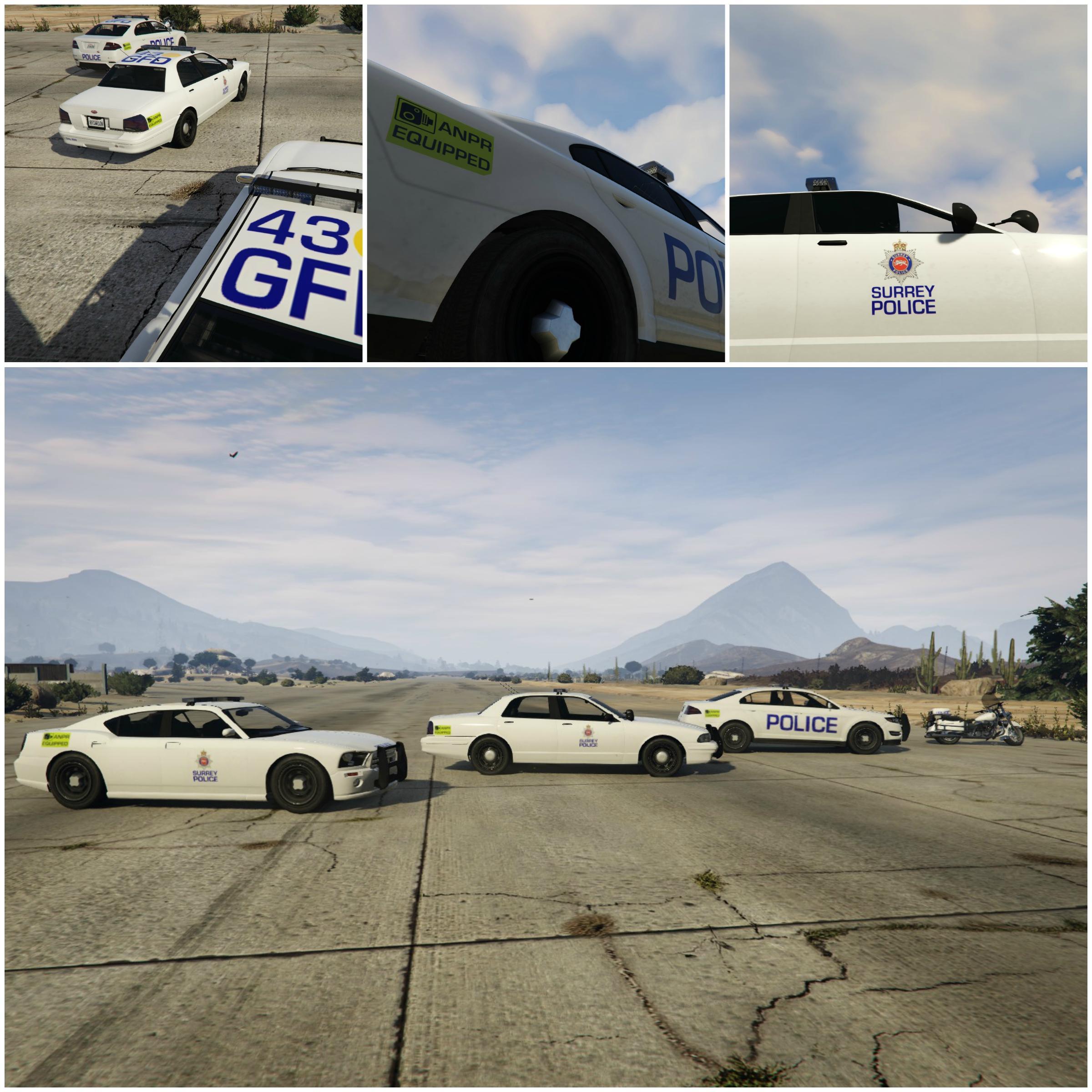 British Surrey Police Cars