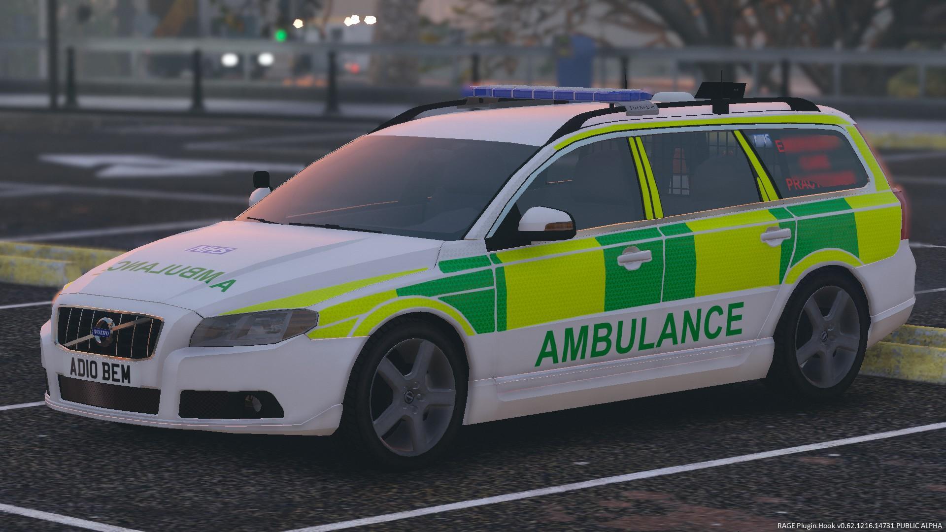 Generic British Volvo V70 Ambulance - GTA5-Mods.com