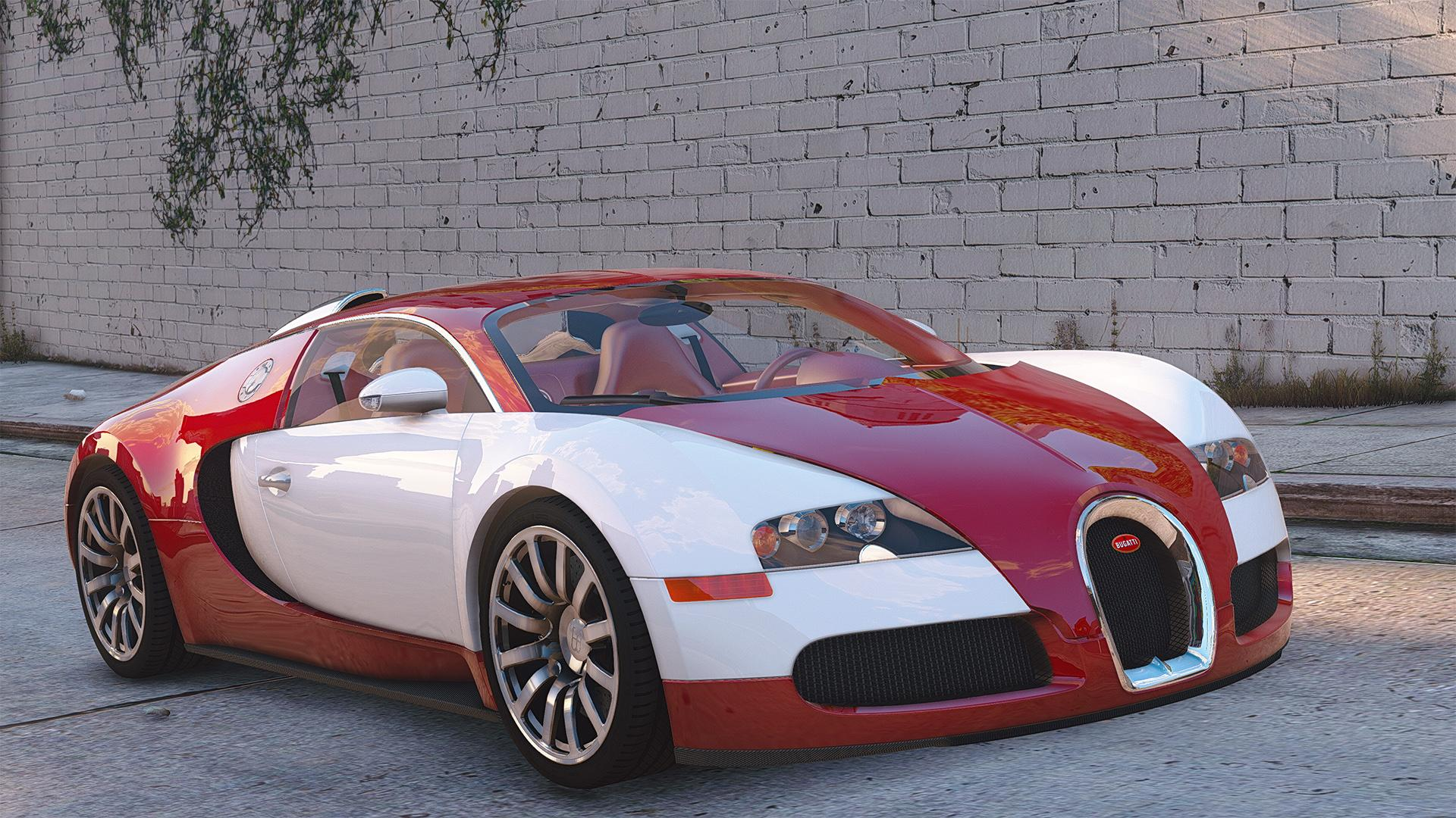Bugatti Veyron 2009 Add On Replace Auto Spoiler