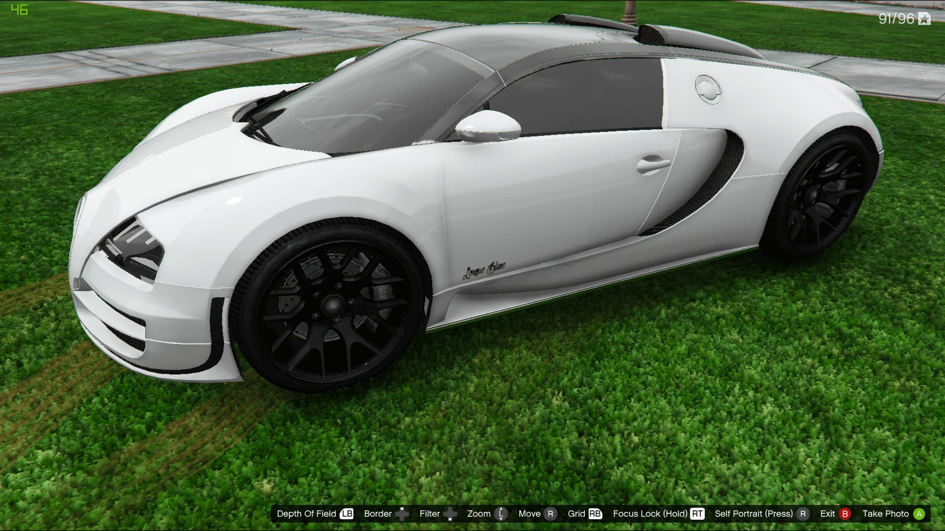 bugatti veyron l 39 orque blanc paintjob gta5. Black Bedroom Furniture Sets. Home Design Ideas