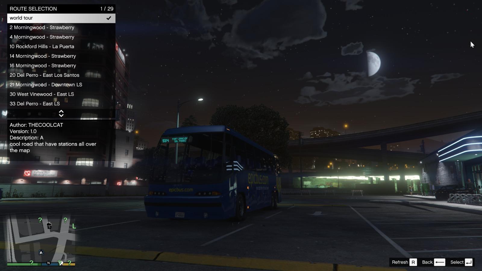 Around The Map Route  Bus Simulator V