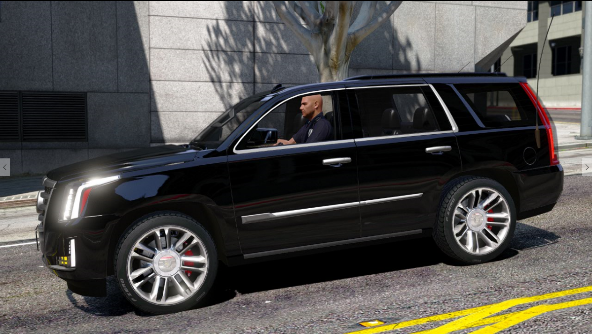Cadillac Escalade FBI Petrol Vehicle 2015 [Replace] - GTA5-Mods.com