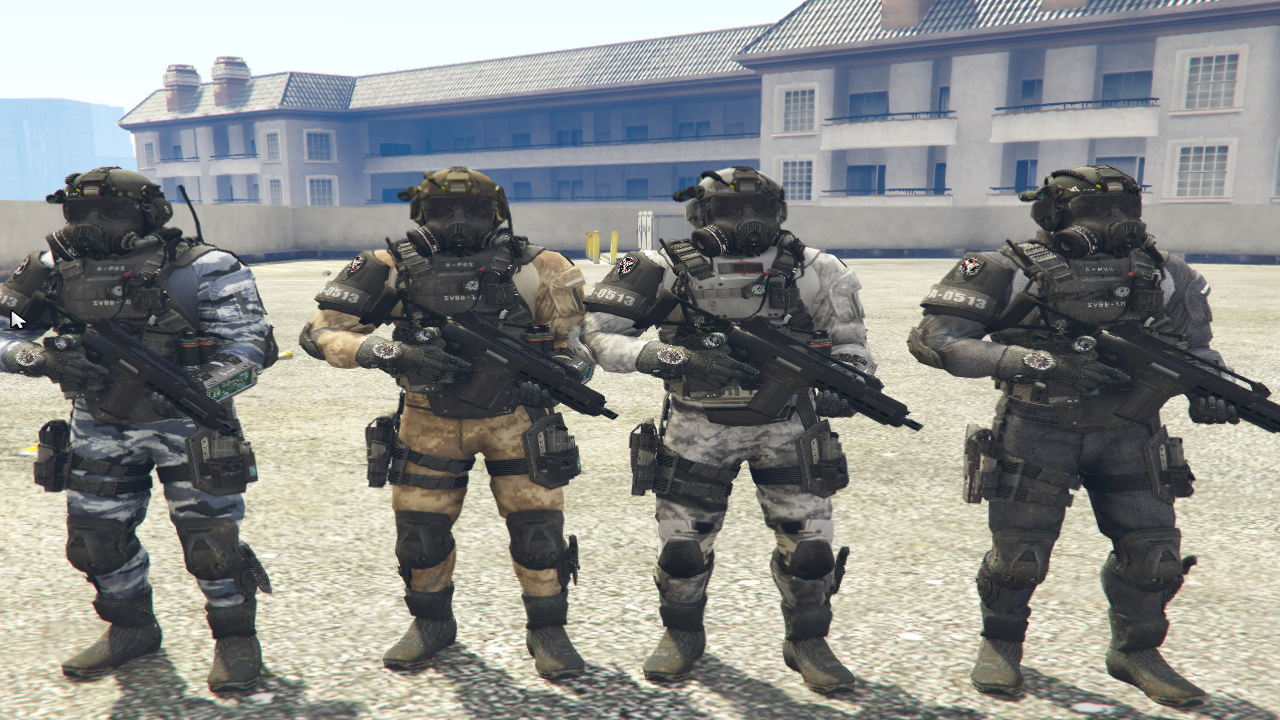 Call Of Duty Ghosts: PMC Model Texture Variation Pack - GTA12-Mods.com