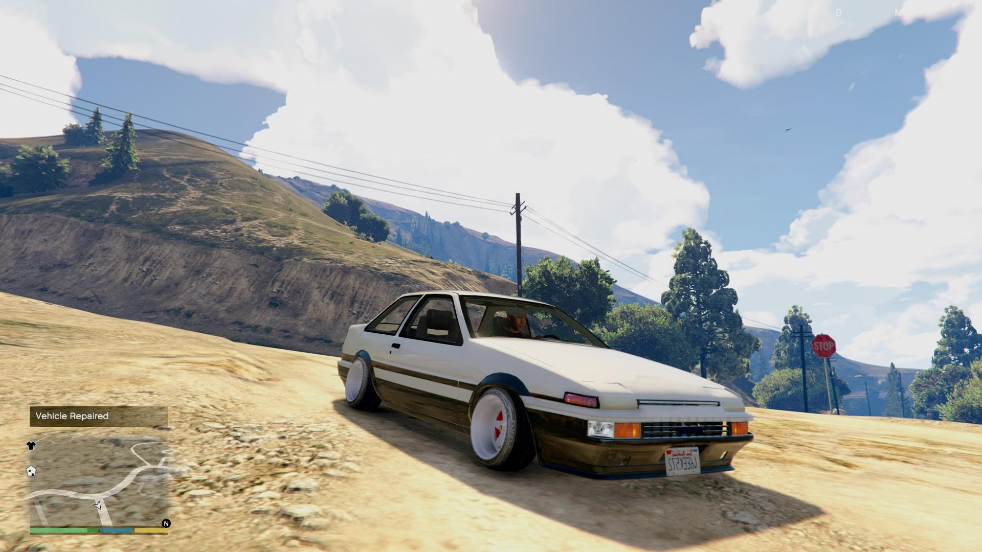 Toyota ae 86 trueno add on tuning stanced gta5 for Toyota 86 exterior mods