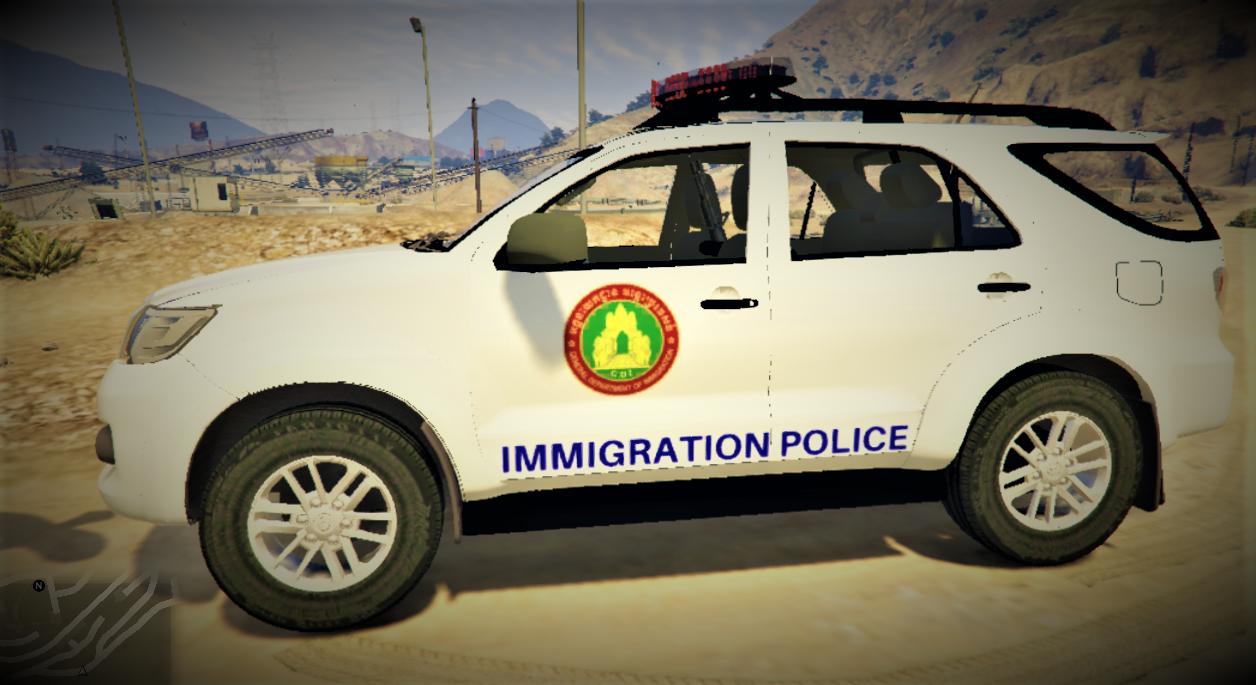 Cambodia Immigration Police Toyota Hilux Sw4 2014 Gta5 Mods Com