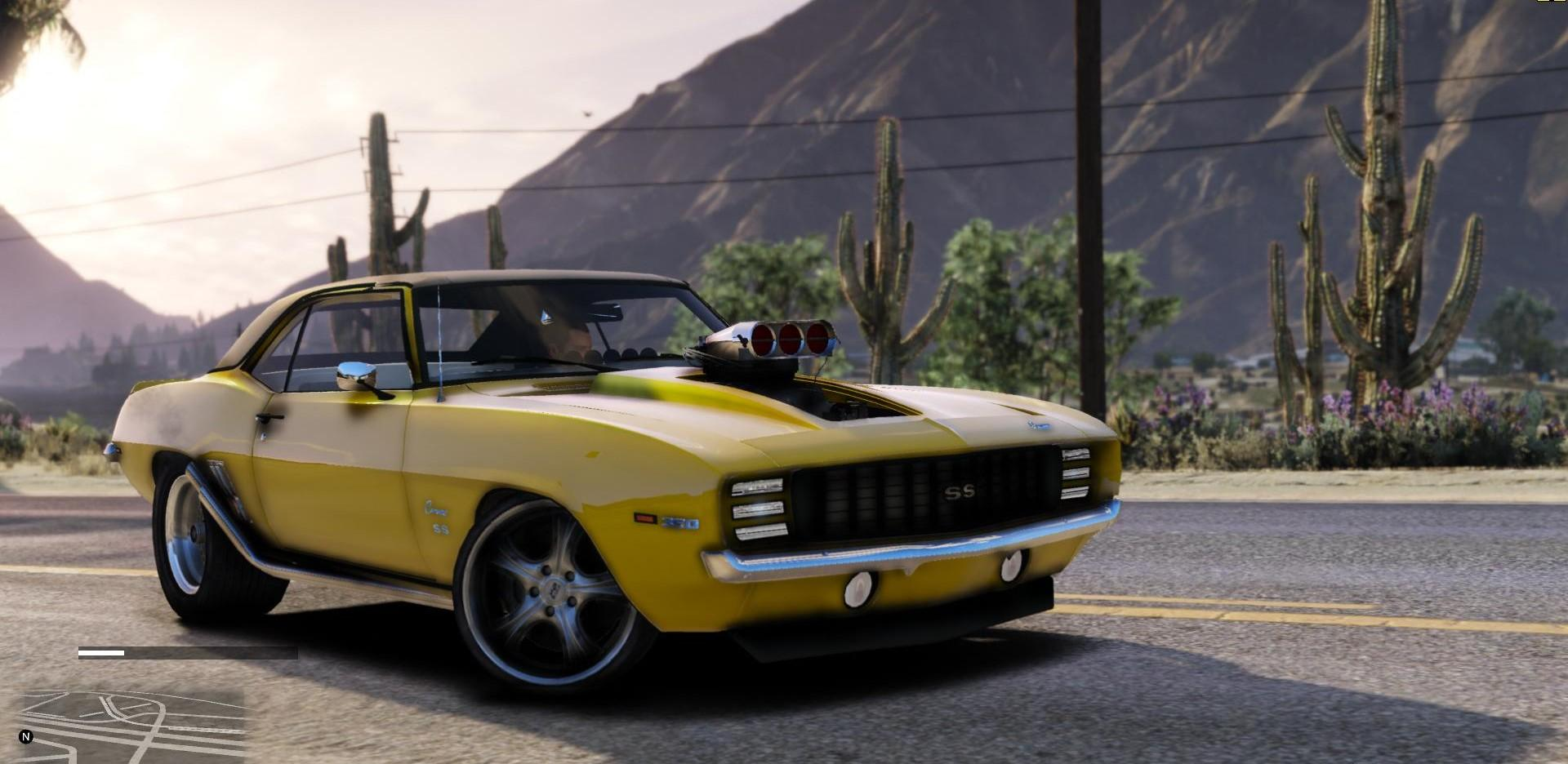 chevrolet camaro ss 300 drag add on replace extras gta5. Black Bedroom Furniture Sets. Home Design Ideas