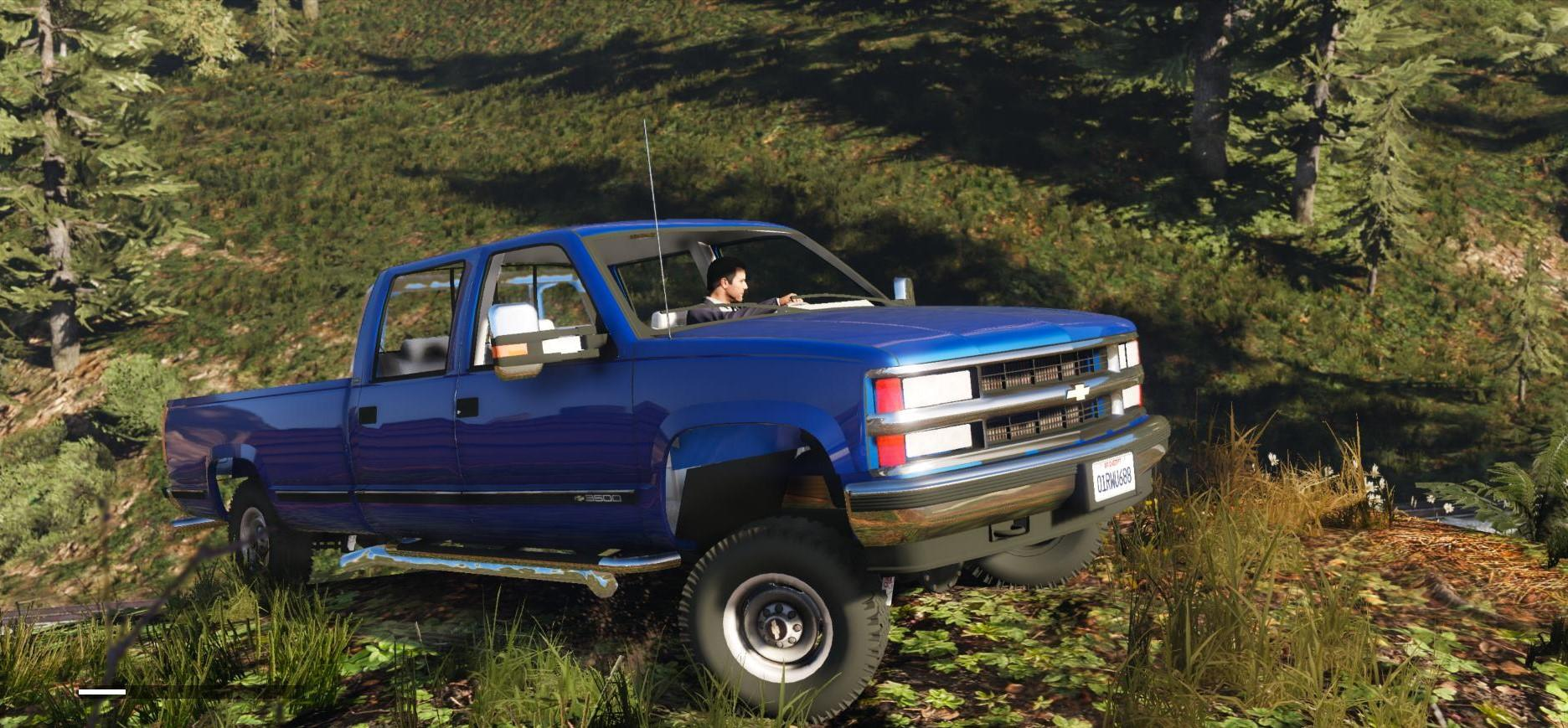 chevrolet silverado 3500 ls crew cab 4x4 1999 add on replace extras gta5. Black Bedroom Furniture Sets. Home Design Ideas