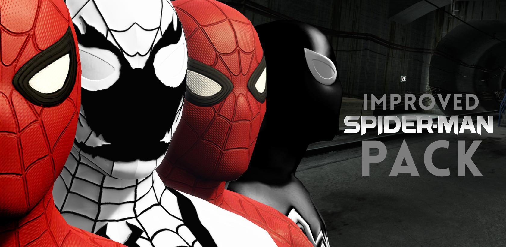 improved spider-man (homecoming, civil war, symbiote & anti-venom