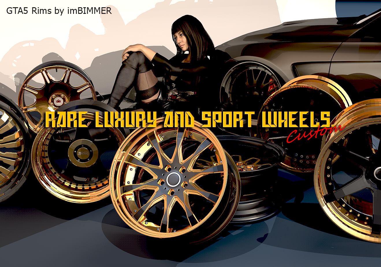 custom rare luxury and sport wheels gta5 parts of custom rims pack1 by imbimmer replace gta5. Black Bedroom Furniture Sets. Home Design Ideas