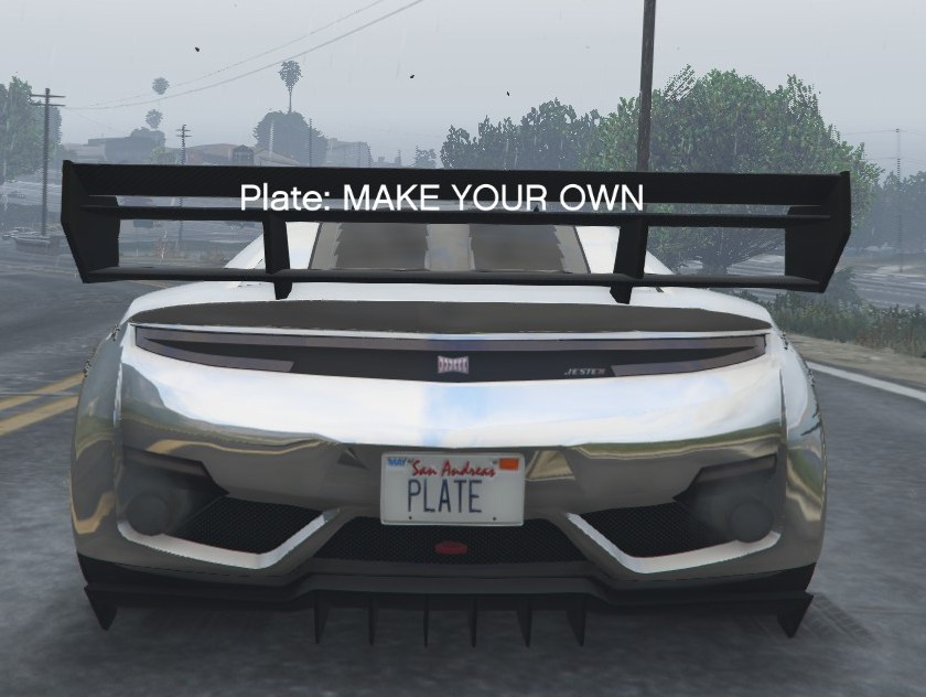 Customize Plate Gta5 Mods Com