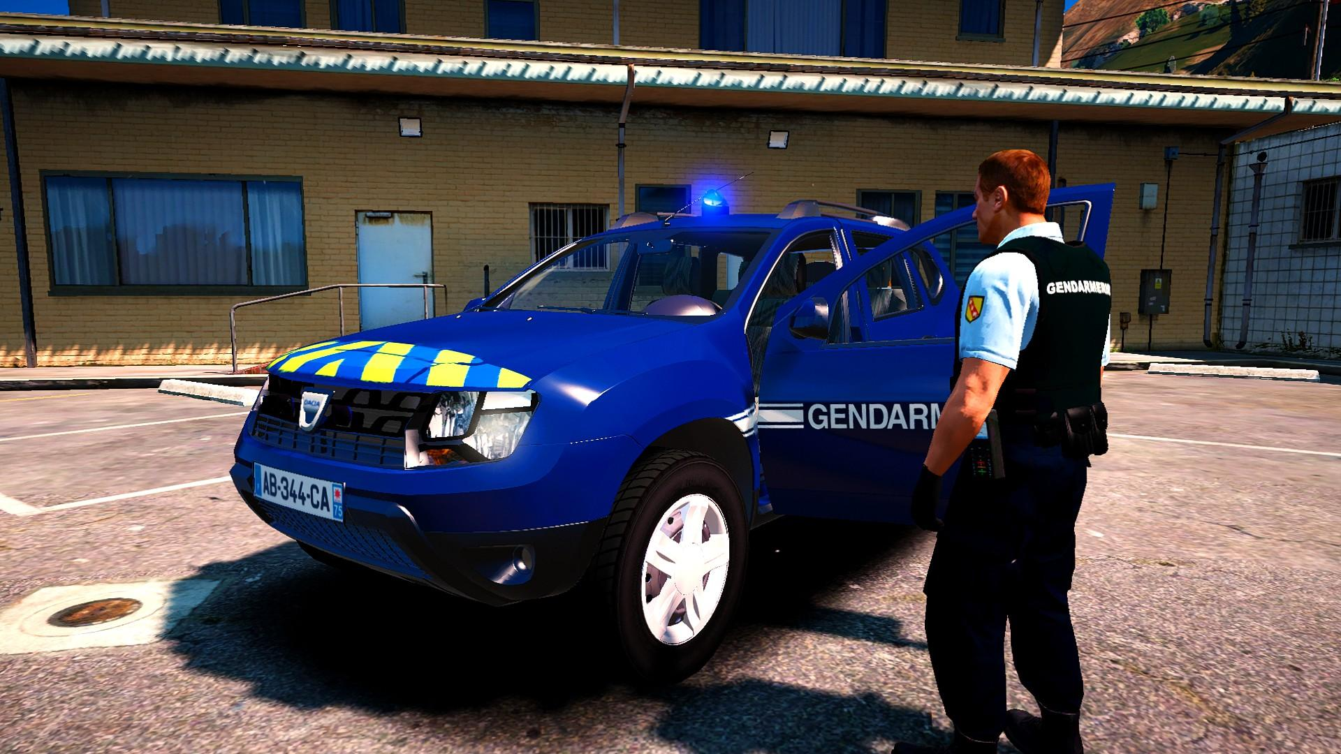 dacia duster gendarmerie nationale non els gta5. Black Bedroom Furniture Sets. Home Design Ideas