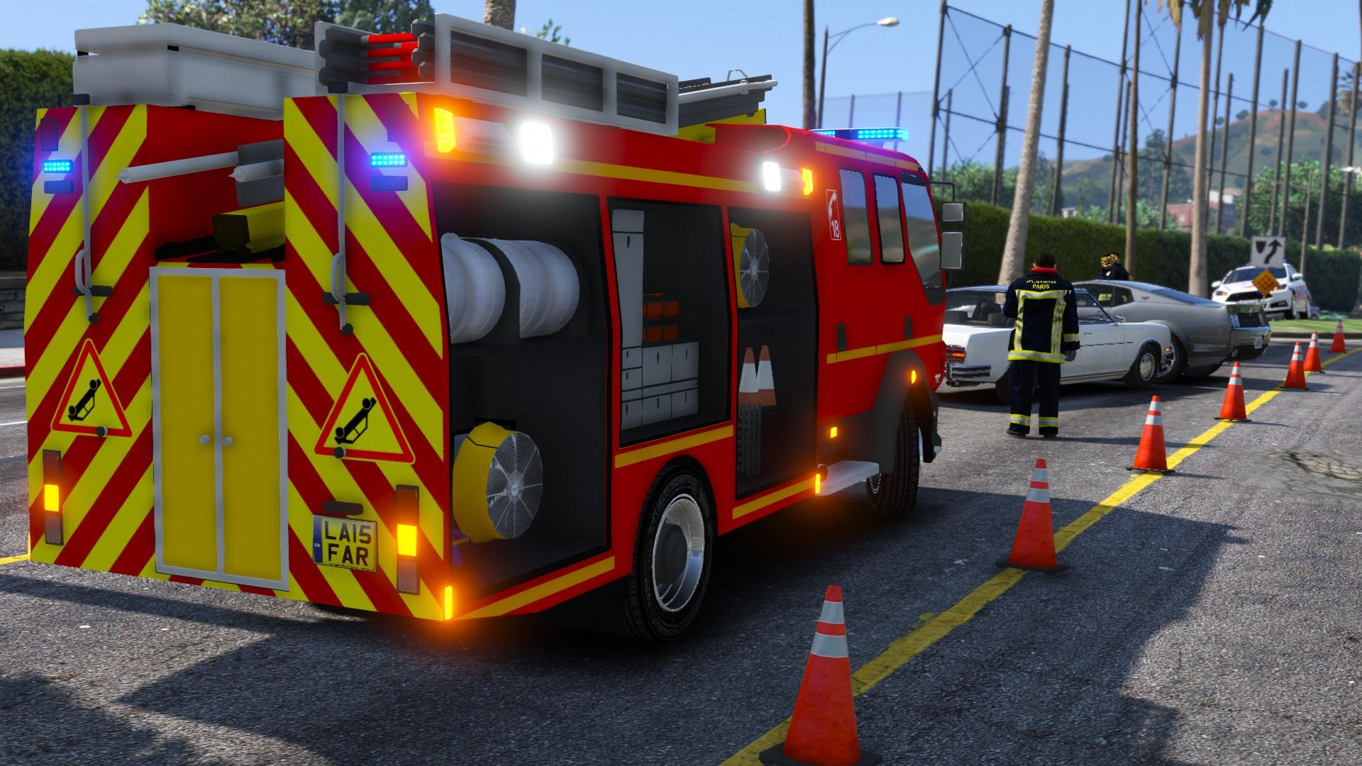 daf v hicule de secours routier des sapeurs pompiers gta5. Black Bedroom Furniture Sets. Home Design Ideas
