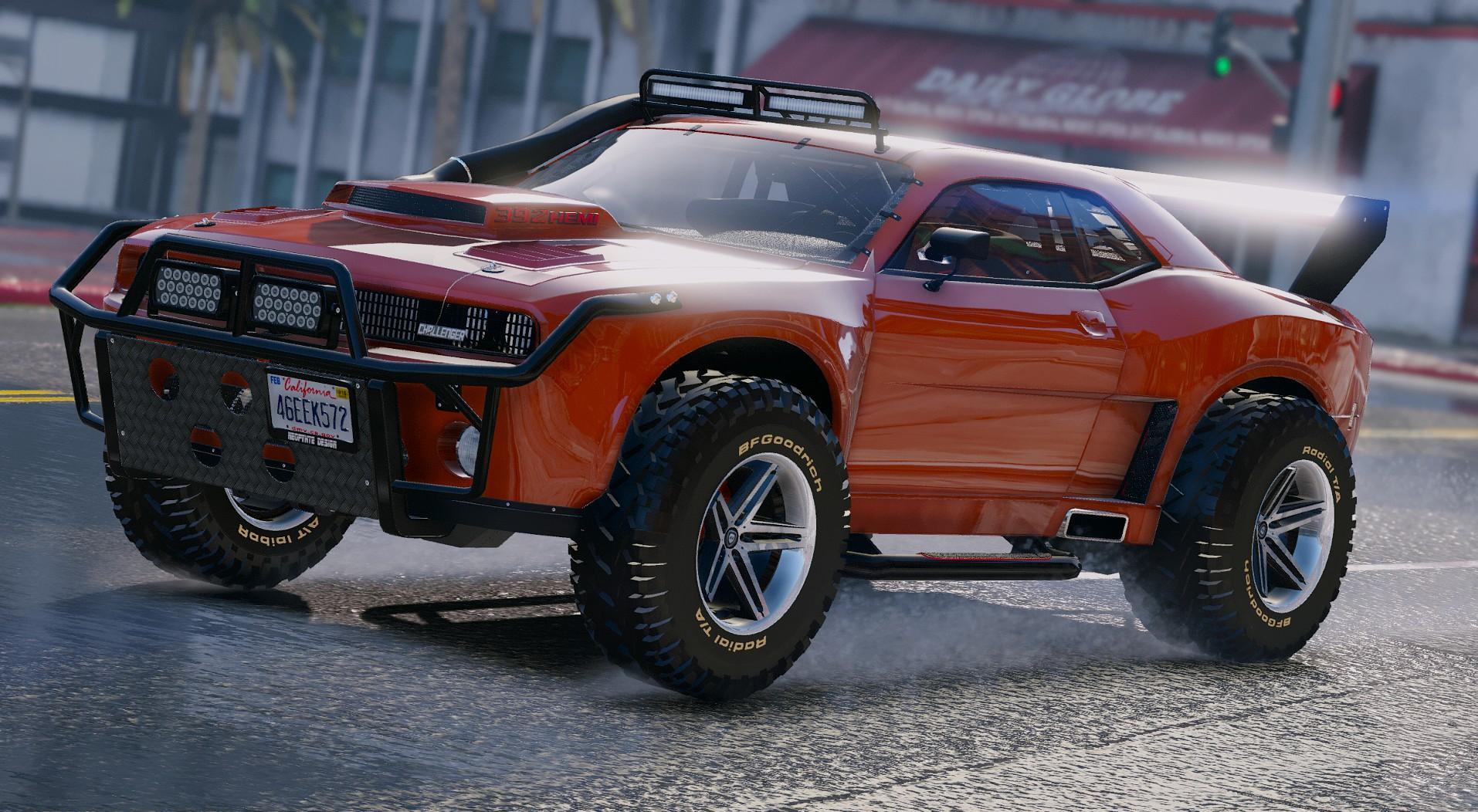 Dodge Challenger Raid Add On Gta5 Mods Com