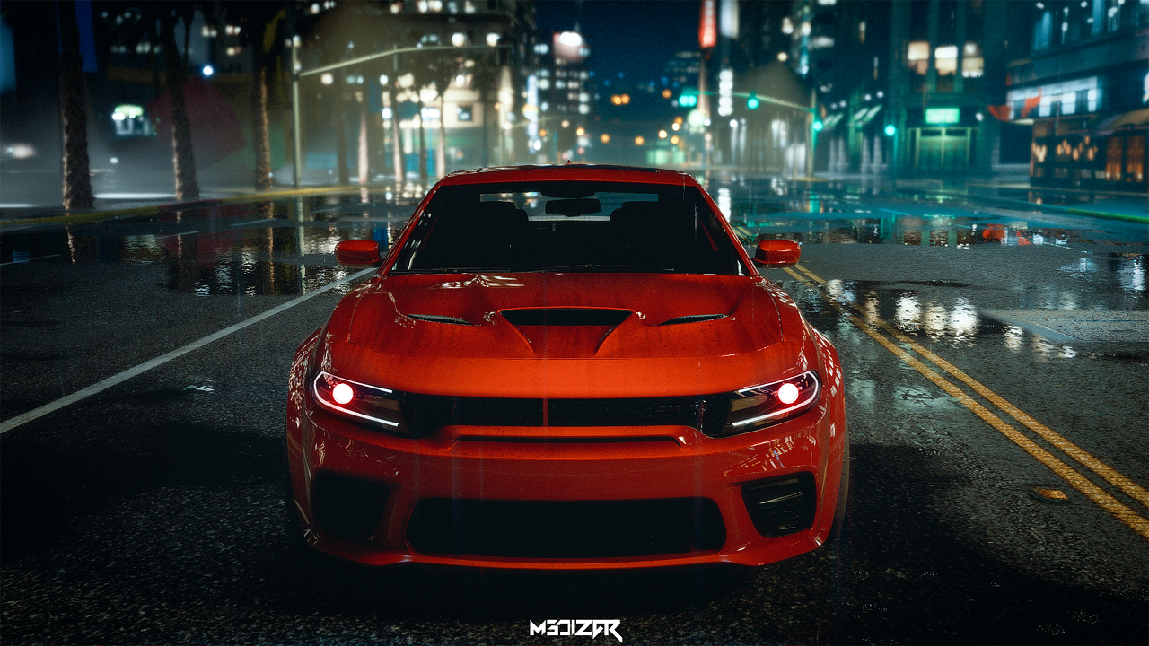 Dodge Charger Hellcat Widebody 2021 Add On Animated Template Gta5 Mods Com