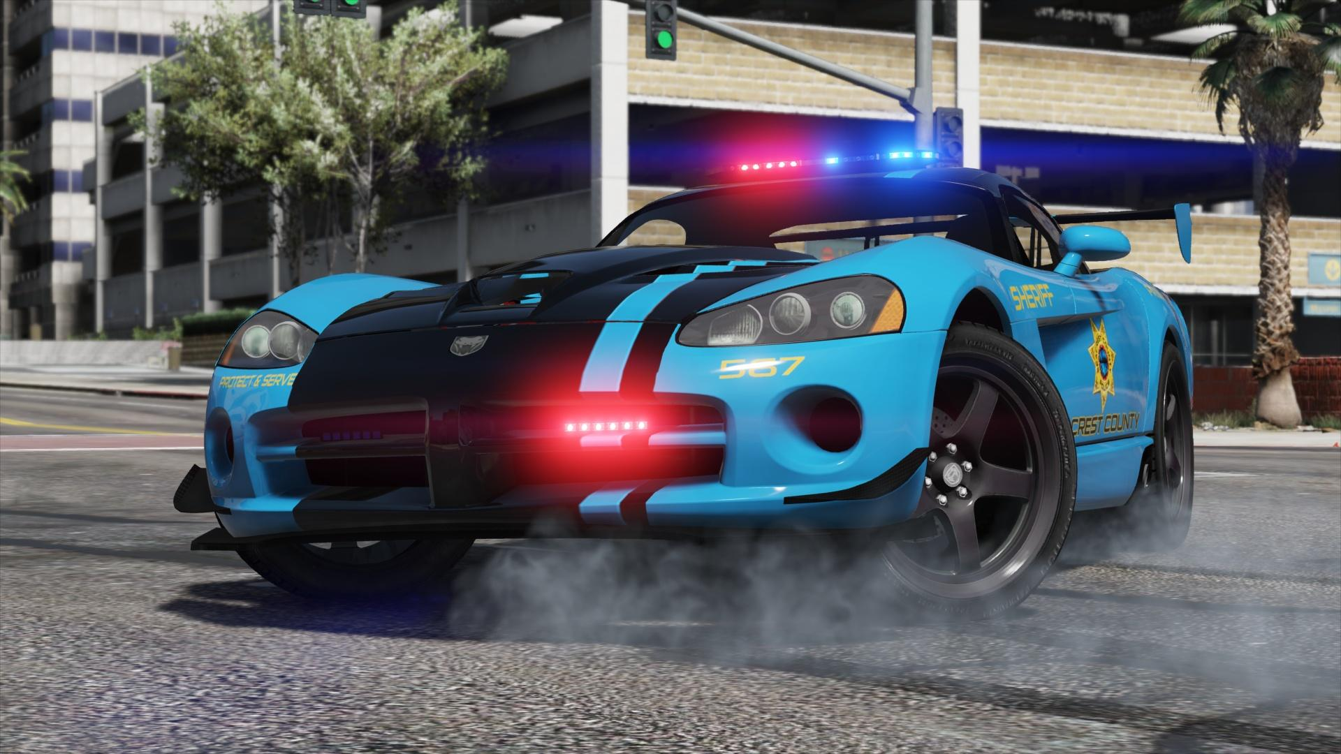 Dodge Viper Srt 10 Acr Hot Pursuit Police Add On