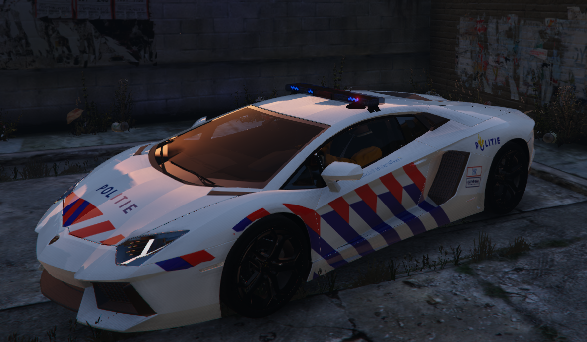 Dutch Police Lamborghini Aventador Skin Gta5 Mods Com