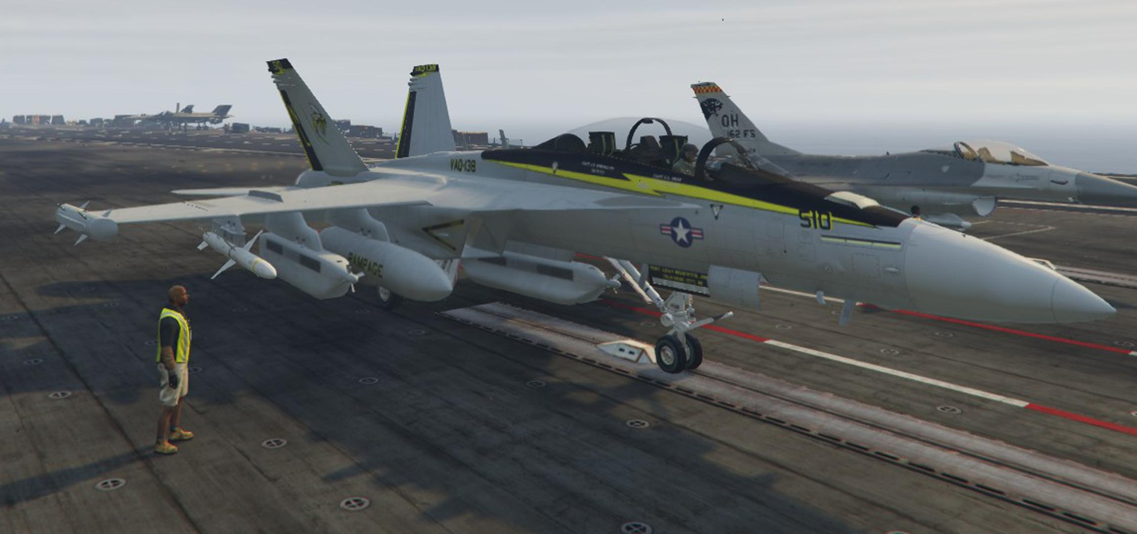 F 18 Growler >> EA-18G Growler RAMPAGE - GTA5-Mods.com