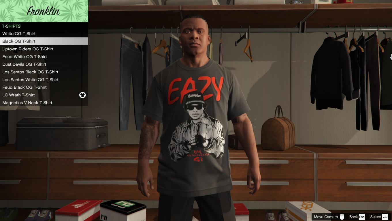 Eazy E T-Shirt for Franklin - GTA5-Mods.com