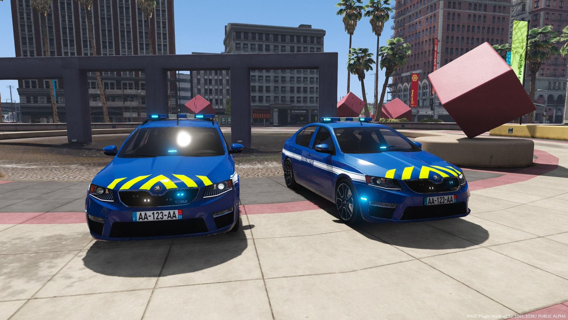 els koda octavia vrs gendarmerie gta5. Black Bedroom Furniture Sets. Home Design Ideas