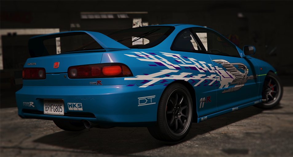 Aa Bb Untitled on 1994 Acura Integra Blue