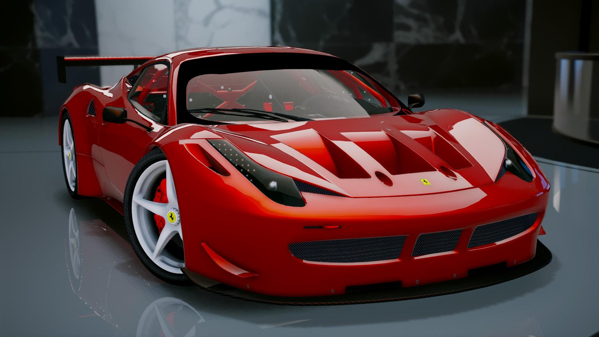 ferrari 458 italia gt2 add on tuning gta5. Black Bedroom Furniture Sets. Home Design Ideas