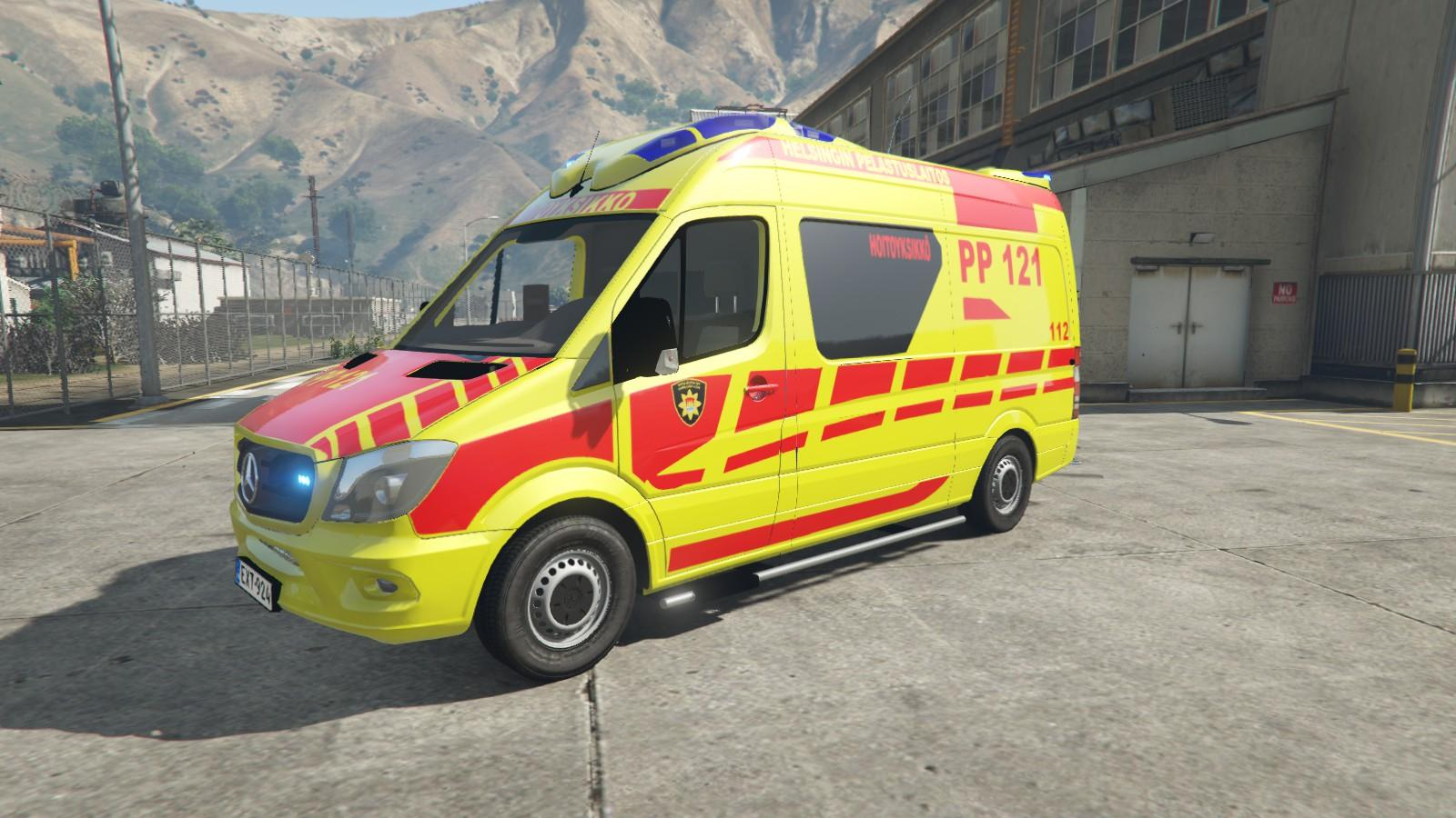finnish mercedes benz ambulance gta5