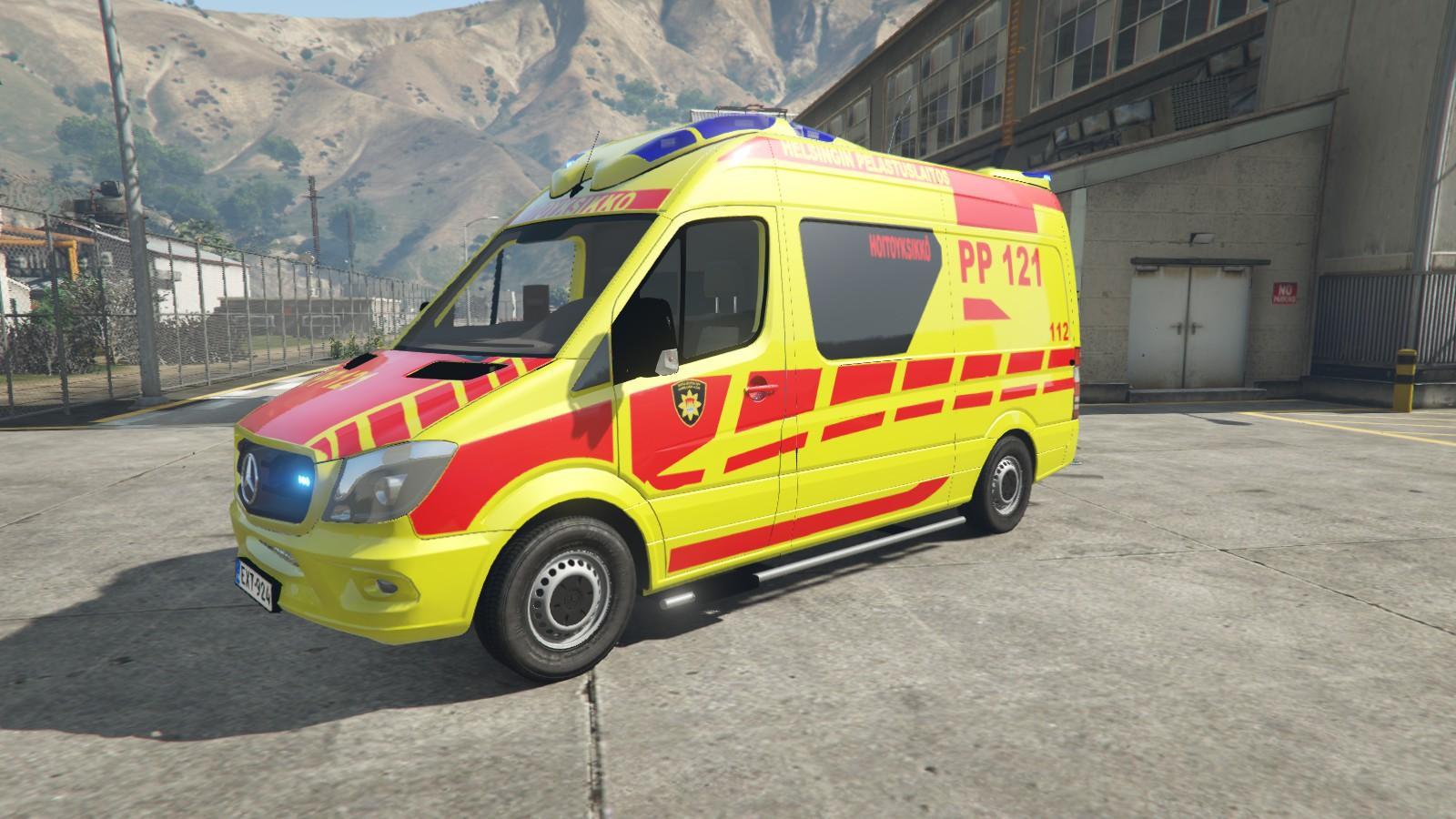 finnish mercedes benz ambulance gta5
