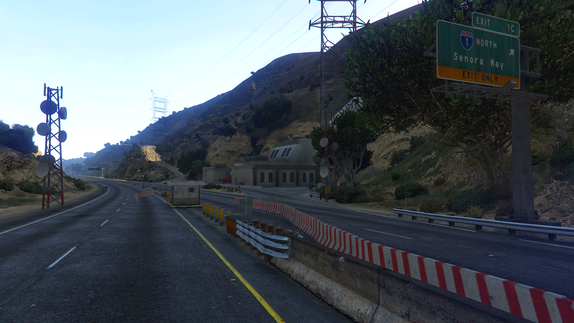Police Checkpoint Freeway - Vinewood Hills [FiveM | SP Menyoo