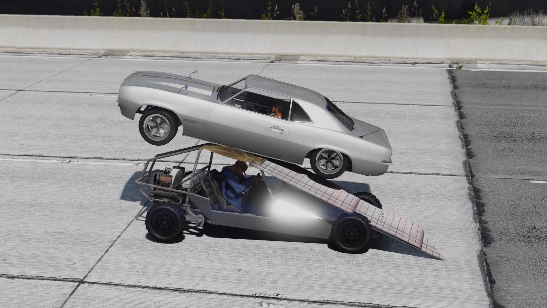 How To Flip Cars >> Flip Car Ramp Car Menyoo Gta5 Mods Com