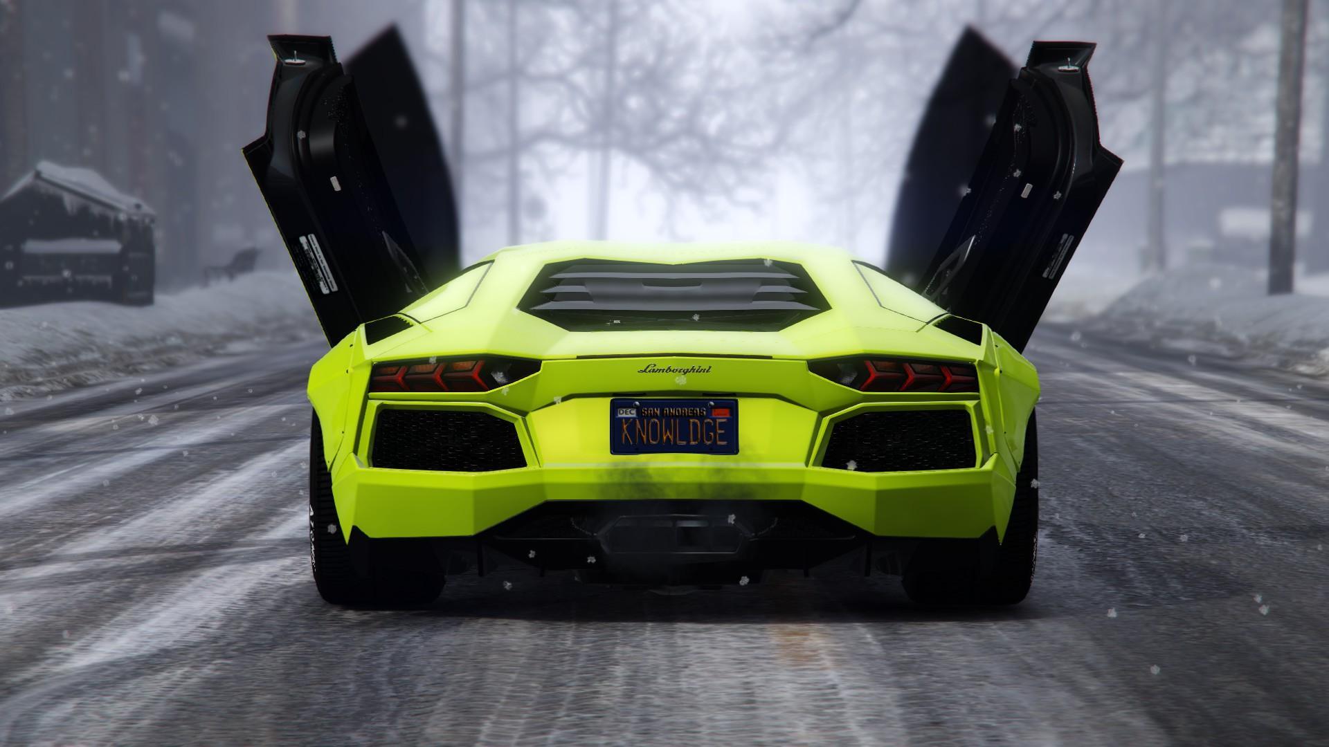 Fluorescent Colors Pack For Lamborghini Aventador