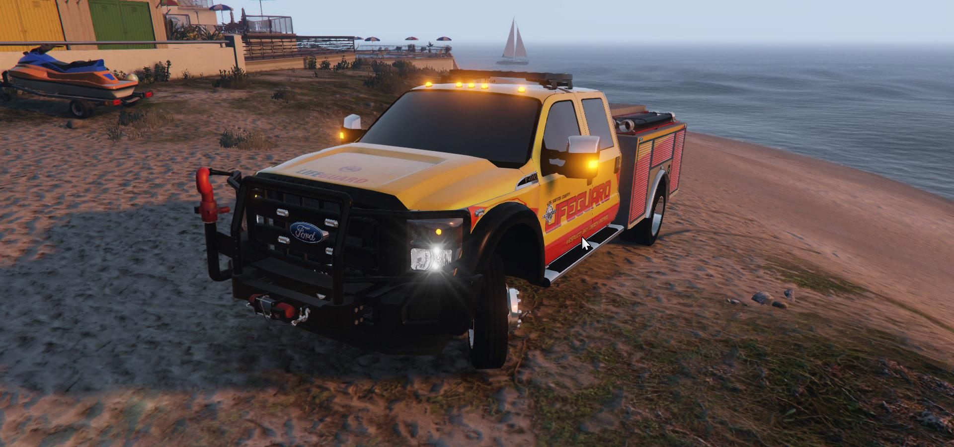 Ford F-350 Lifeguard Skin from Baywatch Movie - GTA5-Mods.com