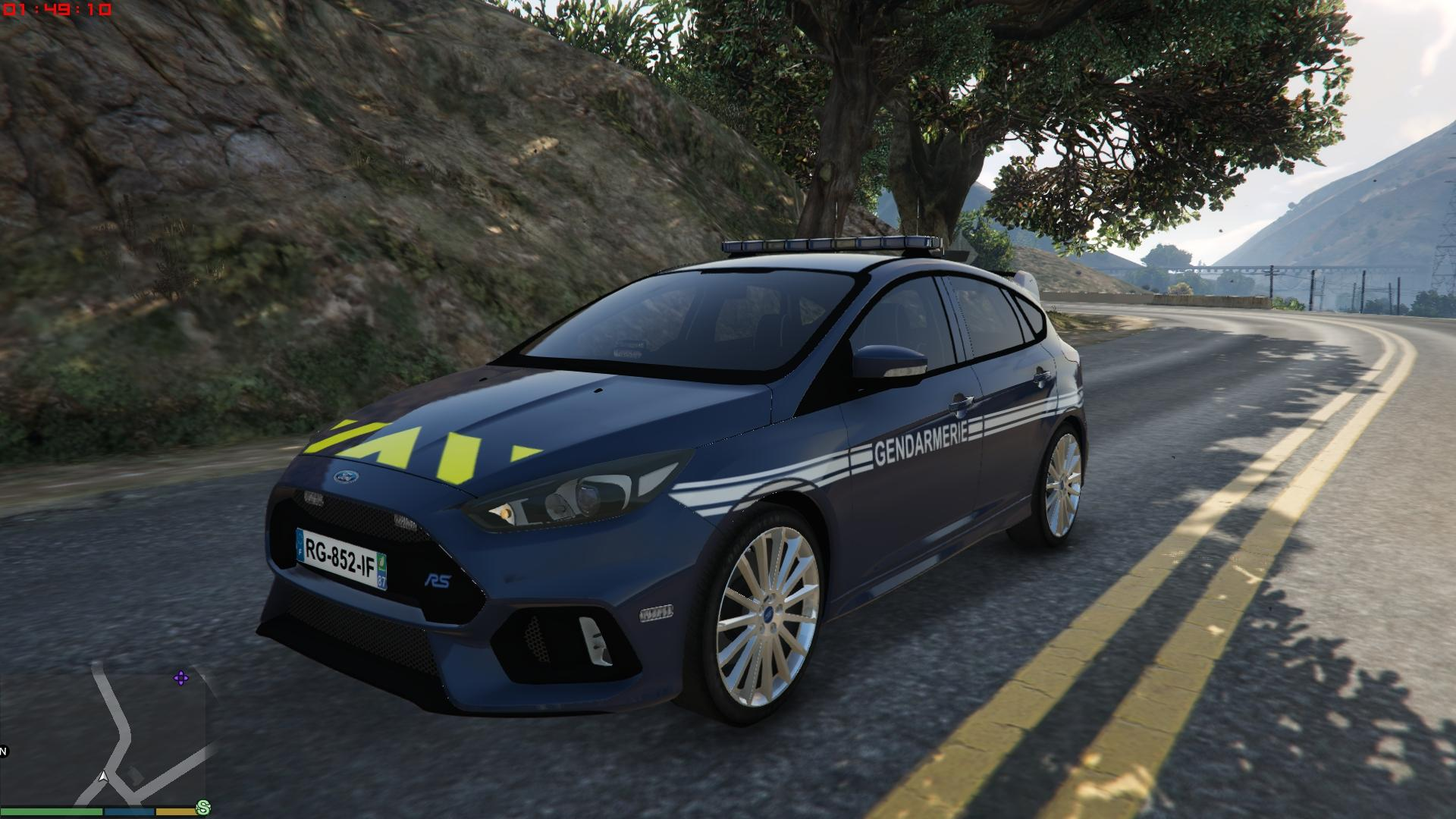 ford focus rs french gendarmerie gta5. Black Bedroom Furniture Sets. Home Design Ideas