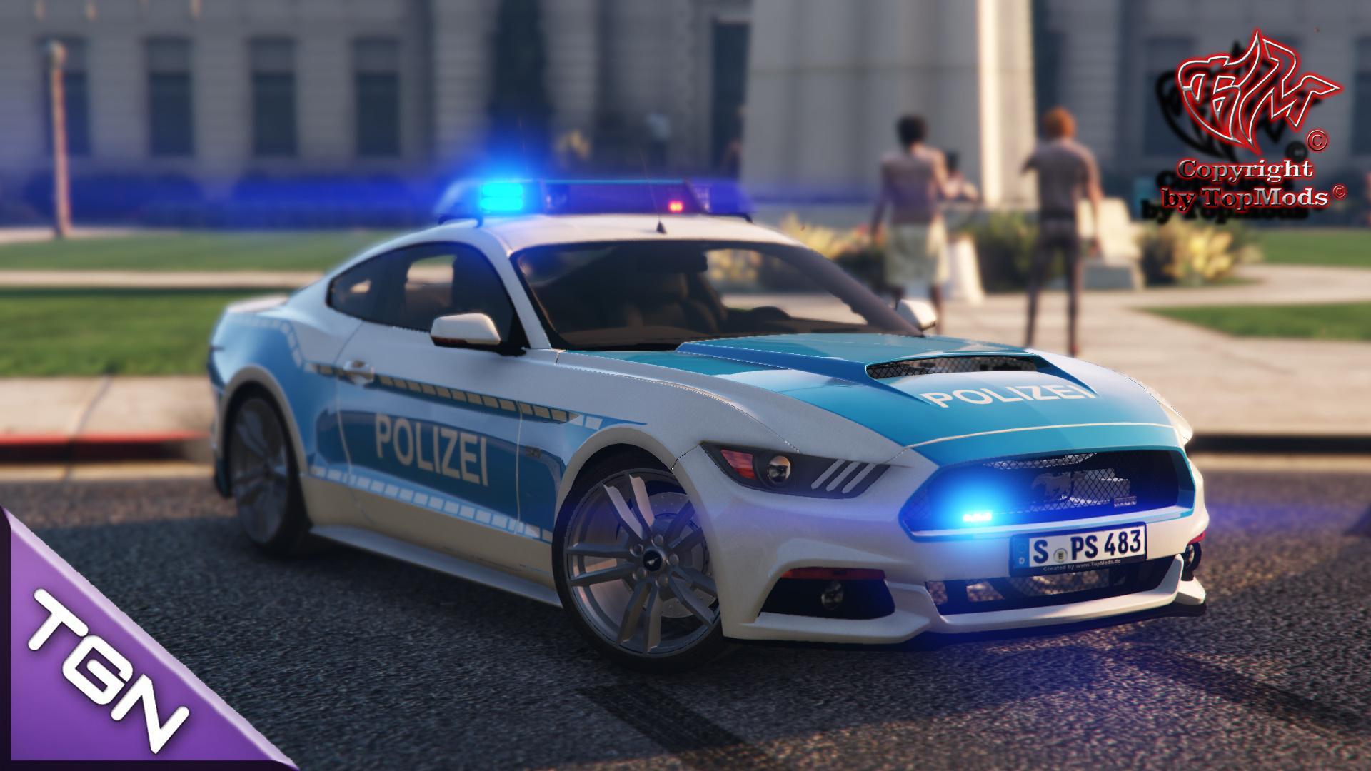 Ford Mustang Polizei Stuttgart Gta5 Mods Com